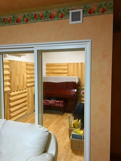 戸建住宅にヴァイオリン・コントラバス・ピアノ室を改修工事