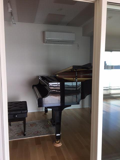 新築マンションにピアノ室を改修工事