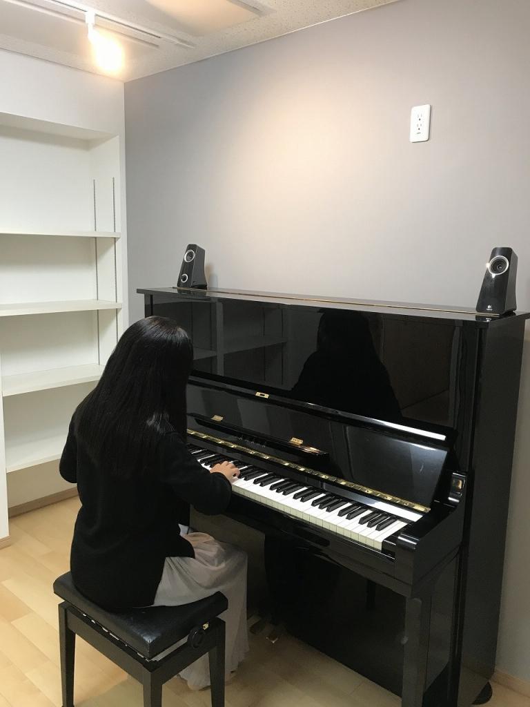 戸建住宅にピアノ室と洋室を改修工事