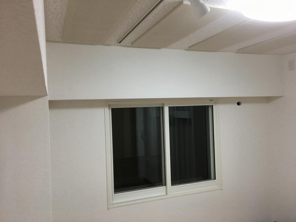 完成しました。既設腰窓の内側に2重の樹脂サッシを設置しています。