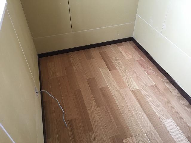 弊社の木工事が完了しました。 本体工事に引き継ぎ、内装の仕上げをしていただきます。