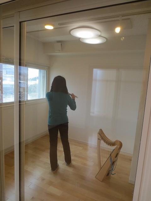 戸建住宅にピアノ・フルート室を改修工事