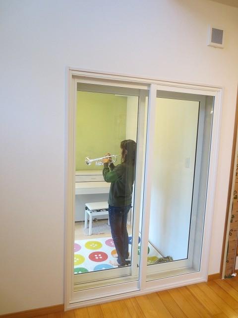 戸建住宅にトランペット室を改修工事