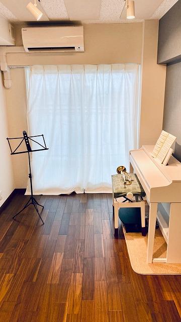マンションにトランペット・バイオリン室を改修工事