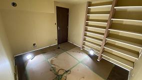 弊社の木工事が完了しました。 クロス工事などの内装を本体と一緒に施工して頂きます。