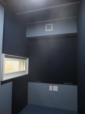 戸建住宅にナレーション室を改修工事