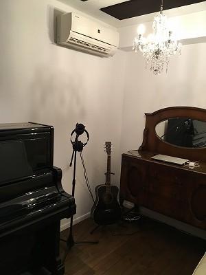 戸建住宅にピアノ・ボーカル室を新築ジョイント工事