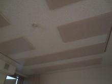 天井には吸音材がびっしりと入っています。 リブテックオリジナルの構造で皆様にご好評いただいてます!
