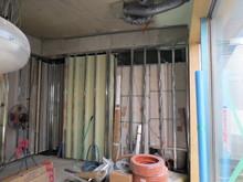 リブテック施工前の状態です。ここから作業をし防音室を作っていきます。