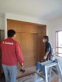 クローゼットも取り壊してお部屋を広く使います。