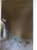 遮音壁・天井ができあがってきました。 天井は吸音天井に仕上げていきます。