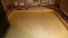 浮き床コンクリート仕様の準備です。