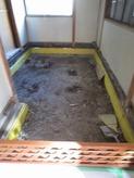 築35年ということで床も基礎からつくりなおしました。