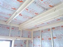 壁と天井の遮音補強です。