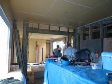ハウスメーカーさんから引き継ぎ当社の施工開始です。