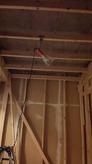 第2遮音壁をつくっていきます。 防音室側の壁です。