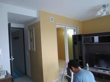 リビングからみたお部屋です。 クロス施工前に遮音測定をおこないました。