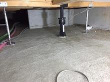 防音室はかなりの重量になるため床は束補強を行いました。