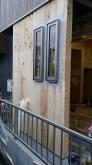 防音室のエントランス部分は増築しました。 母屋の外観と雰囲気を合わせて計画しています。
