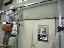 遮音補強工事の開始です。壁の下地を組んでいきます。