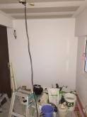 既設の押し入れ部分は新しく壁になりました。