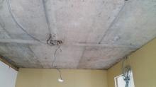 解体後です。天井高をできる限り確保するため解体を行います。