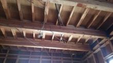 解体作業後です。床下などの現地調査に伺いました。