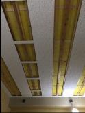 天井は遮音工事後に吸音天井に仕上げていきます。