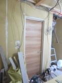 壁のボード張りが完了です。