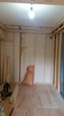 躯体の遮音補強です。 まずは浮き床を施工しました。
