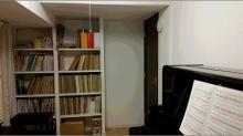 楽譜棚もしっかり設けています。