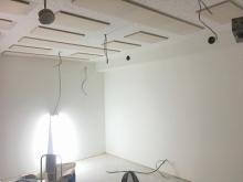 完成です。天井は吸音天井仕上げです。
