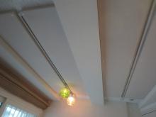 天井は吸音天井に仕上げています。 お客様のお好みの音響空間に仕上がるように計画します。