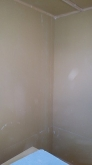 遮音壁と天井が出来上がりました。 天井を吸音天井に仕上げていきます。