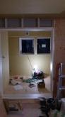 弊社の木工事が完了しました。 ハウスメーカーさんにもう一度引き継ぎ、電気工事やクロス工事を行っていただきます。
