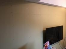 ふかし壁が完成しました。