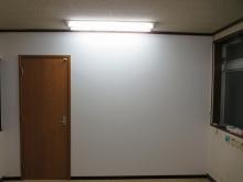 完成しました。入り口には防音ドアを2重で設置しています。