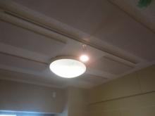 天井は吸音天井に仕上げています。 吸音パネルは弊社オリジナルです。