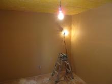 壁と天井の遮音工事が完了しました。