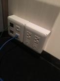 電圧を安定させるダウントランス用に200V電源を各部屋に増設しました。
