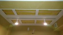 遮音工事後に天井を吸音天井に仕上げて、反響と吸音を調節し長時間の演奏にも疲れにくいお部屋に仕上げていきます。