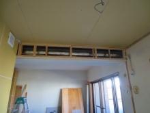 防音室内のエアコンの先行配管です。