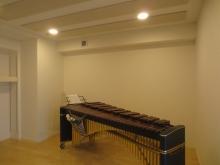 クロス後にマリンバが入りました。 ピアノが入るのが楽しみです。