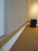 バンド室ということなので壁にも弊社オリジナルの吸音パネルを設置しています。 デットナ空間に仕上げています。