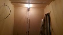 遮音壁と天井が完成です。