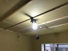 防音室側の天井と壁が出来上がってきまいsた。