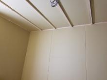 防音室側の壁と天井が出来上がってきました。