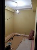 吸音天井が完成しました。 音の響きを調節し長時間の演奏にも疲れにくいお部屋に仕上げていきます。