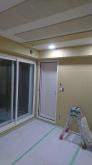 木工事が完了しました。 天井は吸音天井に仕上げています。 開口部の内側には樹脂サッシを2重で設置しています。