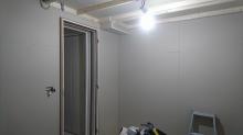防音室の壁と天井ができあがりました。